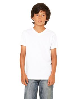 Bella Canvas 3005Y Youth Jersey Short-Sleeve V-Neck T-Shirt