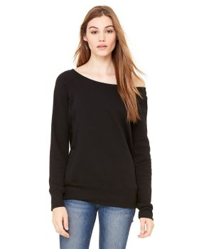 Bella Canvas 7501 Ladies Sponge Fleece Wide Neck Sweatshirt