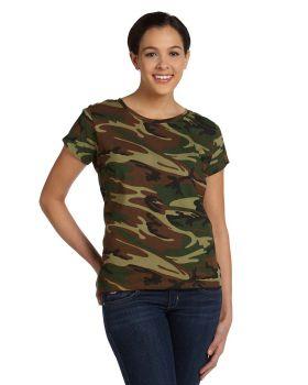 Code Five 3665 Ladies' Camo T-Shirt