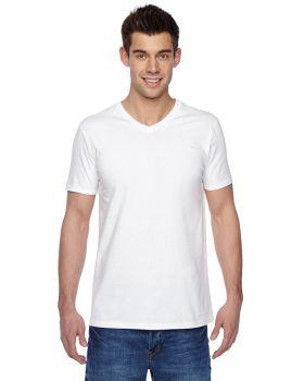 Fruit of the Loom SFVR Adult Sofspun Jersey V Neck T-Shirt