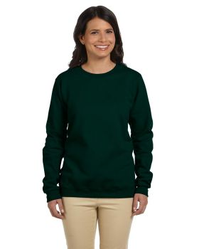 Gildan G180FL Women's Heavy Cotton Polyester Blend Fleece Crew SweatShir ...