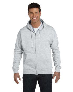 Hanes P180 Adult Cotton Polyester EcoSmart Full Zip Hood