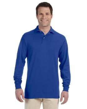 Jerzees 437ML Adult SpotShield Long Sleeve Jersey Polo Shirt