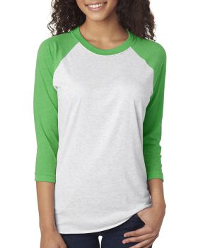Next Level 6051 Unisex Triblend 3/4-Sleeve Raglan T-Shirt