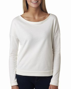 Next Level 6931 Ladies' French Terry Long-Sleeve Scoop