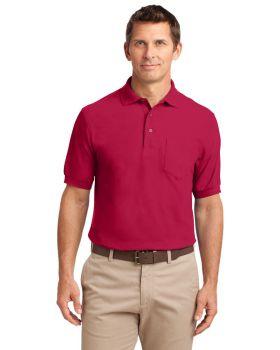 Port Authority K500P Silk Pocket Touch Polo Shirt