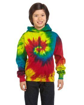 Tie-Dye CD877Y Youth Tie-Dyed Pullover Hooded Sweatshirt