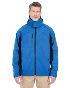 UltraClub 8290 Adult Colorblock 3-in-1 Systems Hooded Soft Shell Jacket
