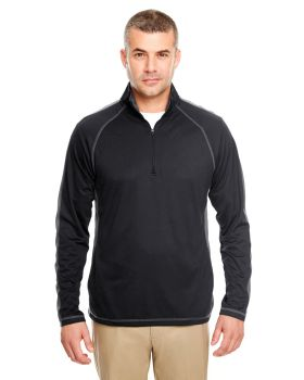 UltraClub 8398 Adult Cool & Dry Sport Quarter-Zip Pullover with Side and ...
